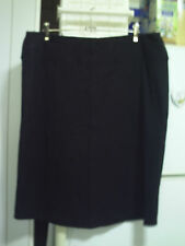 nearly new Autograph black stretch skirt with fancy angled front panel  size 16