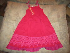 American Girl - Red Pretty Party Dress for Girls Cotton Jersey Size 12 NWT'S