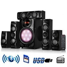 Stereo Home Surround System Bluetooth Speakers Subwoofer Amplifier Audio Radio