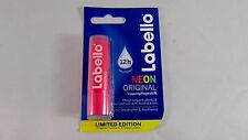 Labello ORIGINAL NEON: Pink lip balm/ chapstick -1 pack - Made in Germany