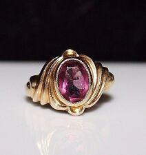 Antique Victorian OSTBY BARTON 10k Gold Tourmaline Ring