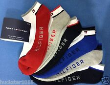 Tommy Hilfiger 6-Pair Athletic No Show Socks White w/Asst Trim   (9411)