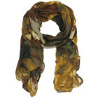 Bucasi Abstract Modern Marble Print Clara Scarf in Brown SF143