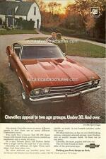1969 CHEVROLET CHEVELLE SS 396 A3 POSTER AD SALES BROCHURE MINT