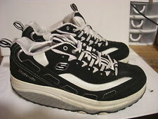 "SKECHERS SHAPE-UPS Ladies Black & White Toning Trainers UK 6 EU 39, 4"" Wide"