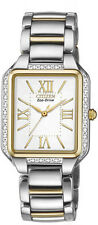New Citizen Women's Eco-Drive Ciena Two Tone Stainless Steel Watch EM0194-51A