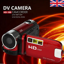 "PRO 2.7"" LCD HD 1080P DV 16MP 16X Zoom Digital Camcorder SD 32G Video Camera RD"