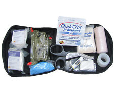 Individual First Aid Kit, Black MOLLE Pouch: Elite First Aid FA187 Military IFAK