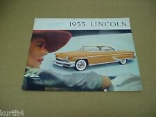 1955 Lincoln Capri convertible sales brochure literature folder