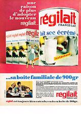 PUBLICITE ADVERTISING  1966   REGILAIT  lait sec écrémé