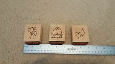 STAMPIN UP Rubber Stamps Lot of 3 Love Bug Love Notes Love Birds