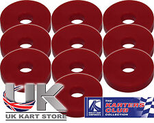 Rubber Washers M6 6mm x 4mm x 20mm Red Pack of 10 UK KART STORE