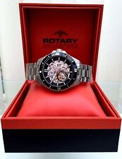 Rotary Aquaspeed SWISS MADE Watch AGB90078 Mens Automatic 21 Jewels RRP £499(A31