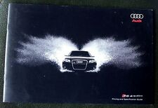 AUDI RS4 quattro Saloon, Avant, Cabriolet Brochure 2008, Pricing & Specification
