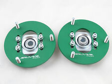Camber Plates fit E36 Drift BMW top mounts for coilover Front x2 Domlager green