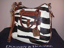 Dooney & Bourke  ZEBRA  PRINT  LEATHER  TEAR  DROP  SATCHEL  SHOULDER   BAG