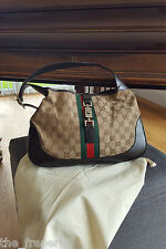 *GUCCI* CLASSIC MONOGRAM CANVAS JACKIE BAG