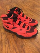 NIKE AIR MAX 2 II UPTEMPO 502962-800 BLACK RED  SIZE: 10