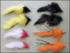 8 Mixed Pike Fishing Flies - Mixed sizes  2/0 and 1/0, Pike Fly