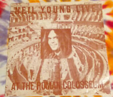 NEIL YOUNG Live At The Roman Colosseum SPACEWARD RECORDS 1976 NM RED/ORANGE WAX