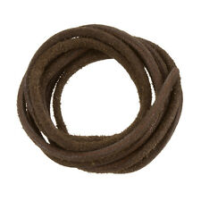 Round Leather Cord Rough Finish Dark Brown 2.5mm 1m Length (A77/4)