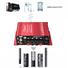 New Mini 2CH Hi-Fi Stereo Amplifier Booster Support DVD CD MP3 Car Motorcycle TV