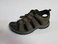 ECCO WOMEN'S SPORT SANDALS BROWN LEATHER SIZE 37, 6-6.5