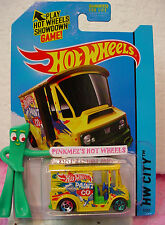 Case N 2014 Hot Wheels BREAD BOX #7 ☀Yellow/Green/Blue;PAINT CO☀Delivery truck