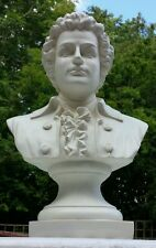 Large Creamy White Ludwig Van Beethoven Statue Bust Ornament Music Artist