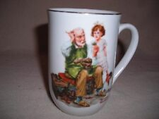 """Norman Rockwell Museum Vintage Mug """"The Cobbler"""" Coffee Tea Cup"""
