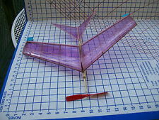 Michigan Hawk flying balsa model airplane kit rubber powered band Laser cut