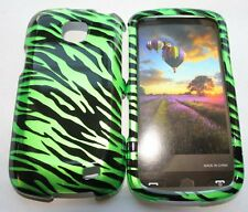 for Samsung Galaxy Proclaim S720C - Green Black Zebra Stripes Hard Case Cover