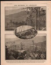 WWI Poilus Lingekopf Vosges Munster/Exposition l'Art la Guerre 1915 ILLUSTRATION