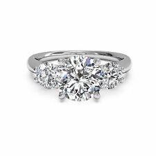1.30CT DIAMOND ENGAGEMENT RINGS 14KT WHITE GOLD ROUND CUT VVS1/D SIZE 8