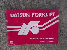1983 Datsun Forklift B01 B02 Series Operator Manual MORE LIFT BOOKS IN STORE  V