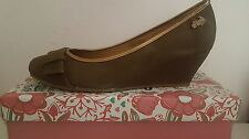 OMS-SHOES Original Marines Womens Wedged Taupe Bronze Ballerinas Shoes UK 7 EUR