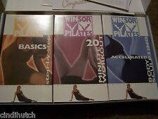 WINSOR PILATES VHS SET OF 3 BASICS 20 MINUTE ACCELERATED BODY SCULPTING