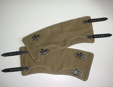 GERMAN ARMY WWII WW2 repro leggings gaiters gemachen Rbnr mkd Czech made