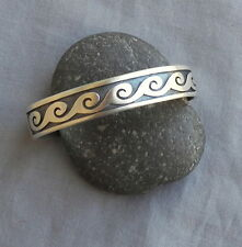 Signed Hopi Overlay Sterling Silver Cuff Bracelet Augustine Mowa ~ New ~