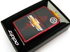 ZIPPO Full Size Candy Apple Red CHEVY BOWTIE Windproof Lighter 28636 New!