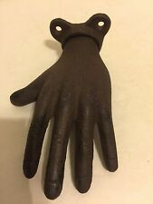 Hand Hanger Hook Plaque Cast Iron Fingers Purse Keys Ring Towel Holder
