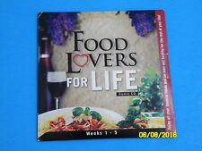 Food Lovers For Life Fat Loss System ~ Weeks 1 - 5  ~ 2 Audio CD Set