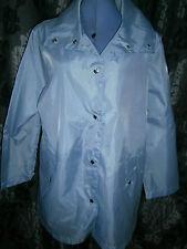 NEW - Pale Blue - Light Weight Raincoat / Jacket - Size 14 / Eur 42 / Medium