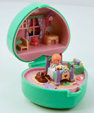 VINTAGE Bluebird Polly Pocket * MIDGE'S BEDTIME RING CASE *  EUC
