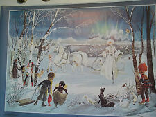 """Rare Andersen's World, """"Arrival of the Snow Queen """"  Poster,#5129, NEW/Wrapped!!"""
