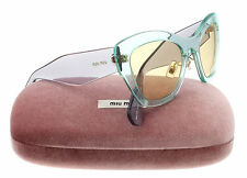 New Miu Miu Sunglasses Women Cat eye SMU 11P Light Green T1D-3F0 SMU11P 52mm