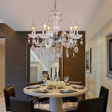 US Elegant crystal Chandelier Modern Ceiling Light Lamp Pendant Lighting Fixture