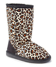 WHOLESALE LOT 12pr Women Classic Snow Boot Shearling Faux Fur-430L Black Leopard