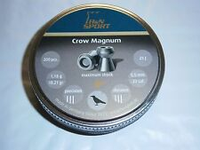 H&N CROW MAGNUM HOLLOW POINT .22 CAL LEAD PELLETS 200 count 18.21 grains DOMED