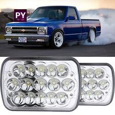 LED Headlight Square Bulb Hi/Low Sealed Beam for Chevy S10 Sonoma Truck 2pcs